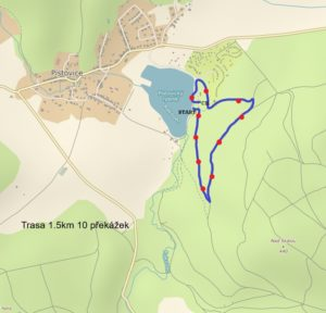 Děti Woodsrace trasa 1.5km