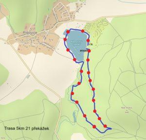Dospělí Woodsrace trasa 5km